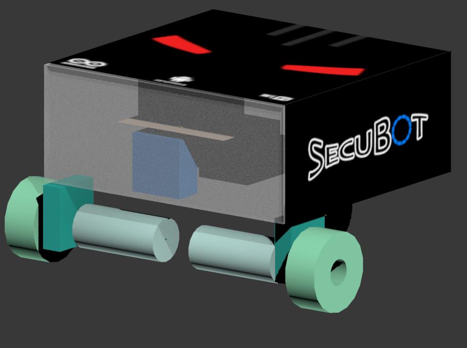 SecuBot - návrh s krytom